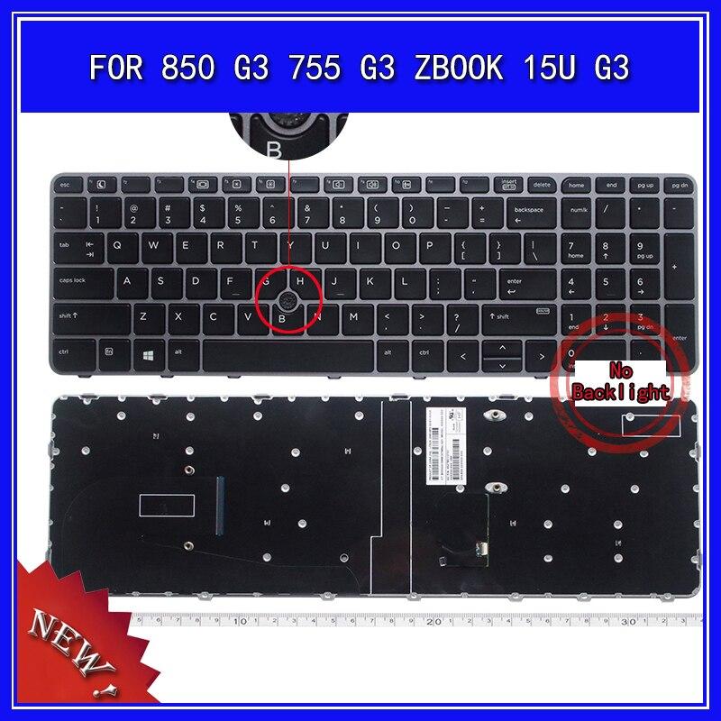 محمول لوحة مفاتيح إتش بي EliteBook 850 G3 755 G3 ZBOOK 15U G3 دفتر استبدال لوحة المفاتيح