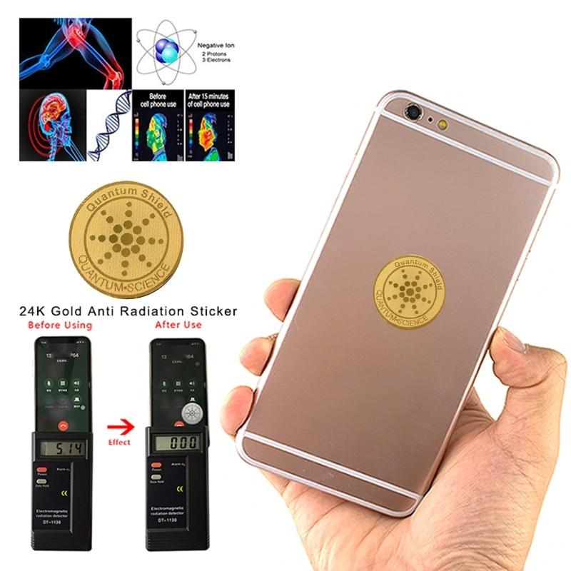 10 Uds Protector de energía Anti radiación escudo EMF protección teléfono móvil pegatinas EMR bloqueador para ordenadores portátiles