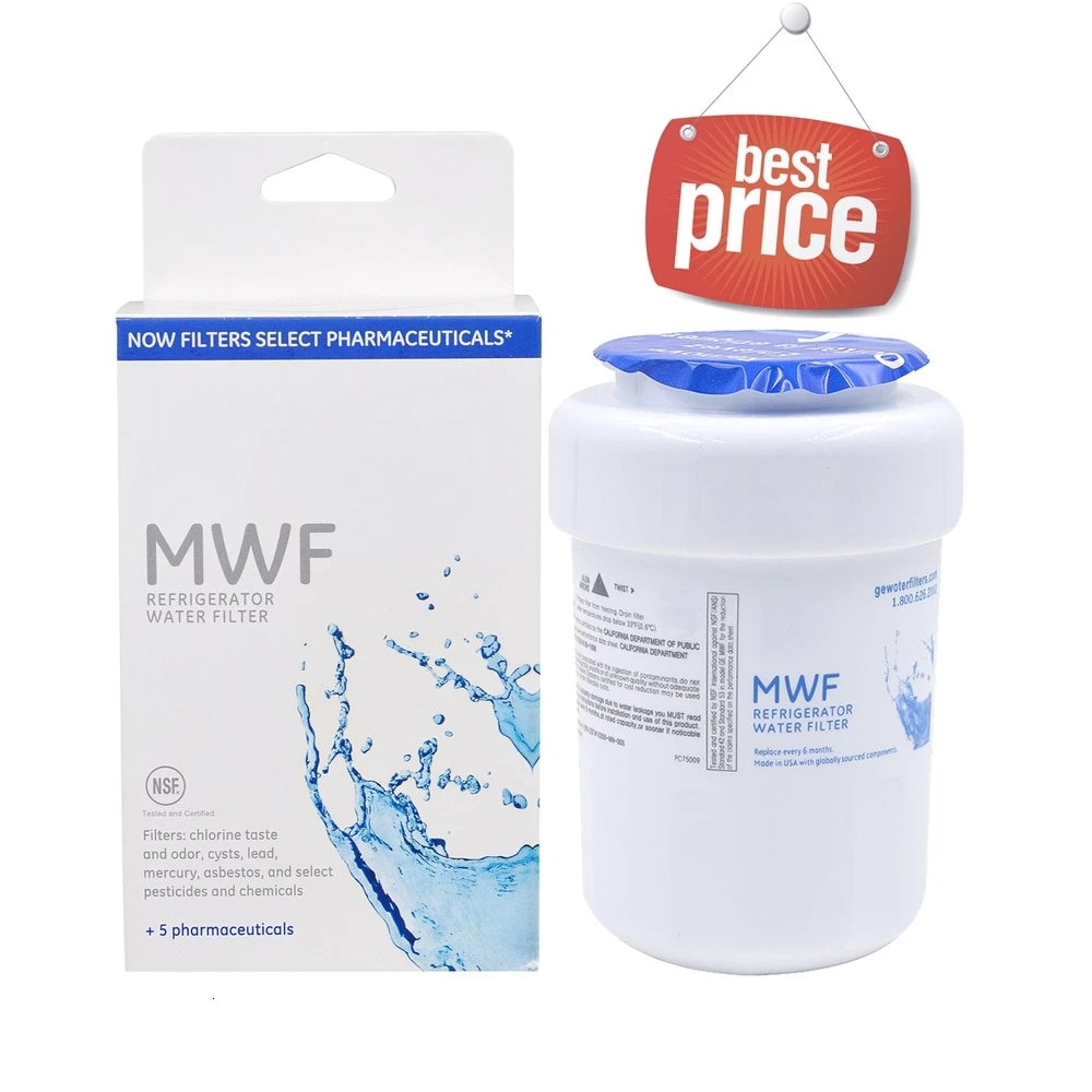 المنزلية أفضل تصفية المياه العامة الكهربائية Mwf Smartwater مصفاة لمياه الثلاجة خرطوشة لاستبدال Ge Mwf 1 Piece