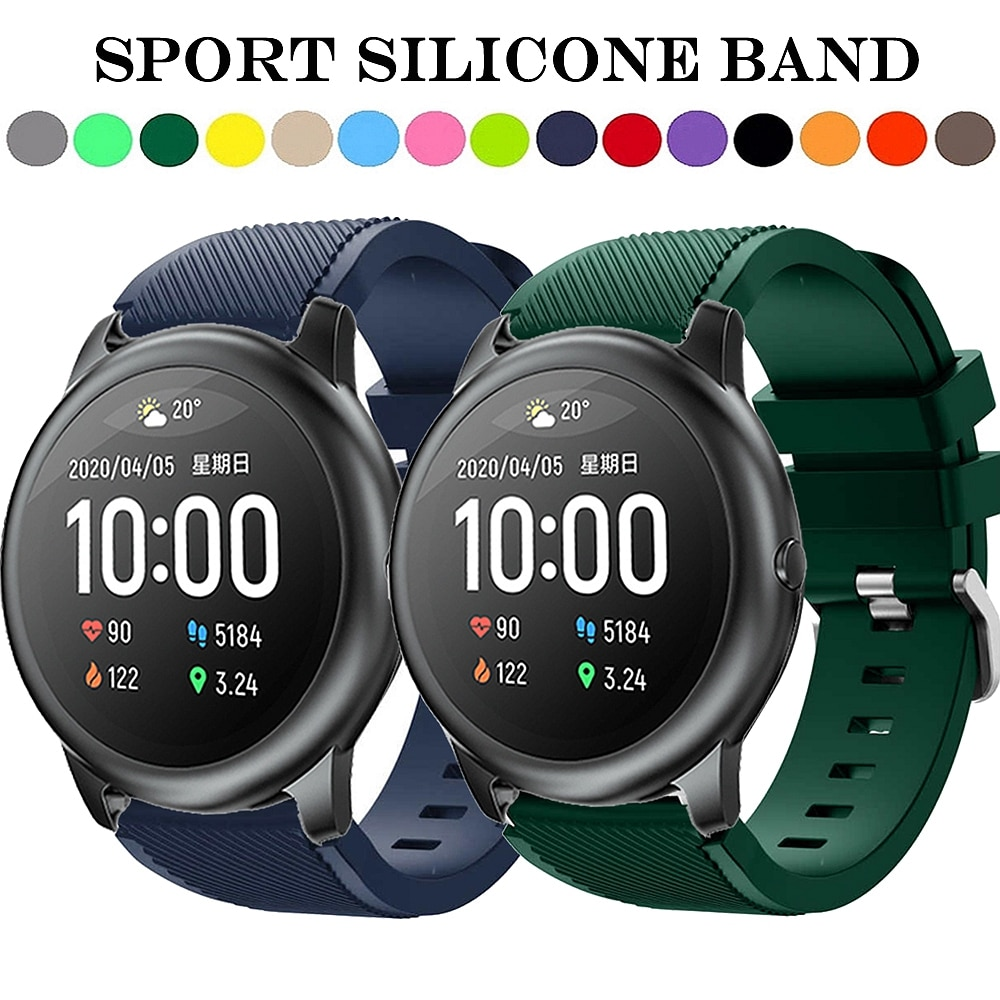 Sport Silicone Watchband Strap for Xiaomi Haylou Solar LS05 Smart Watch Bracelet Band Fashion Replacement Wristband Correa