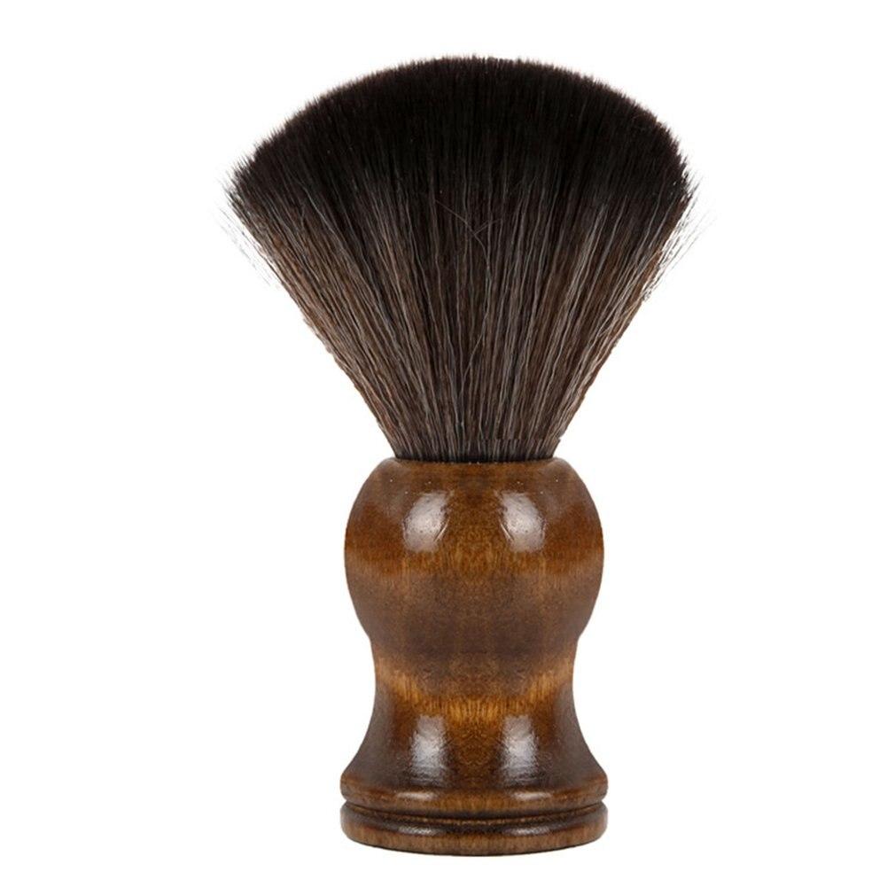 Нейлоновая Щетка для бритья, Мужская щетка для бритья с инженерной деревянной ручкой, набор для бритья, безопасная бритва, прямая бритва