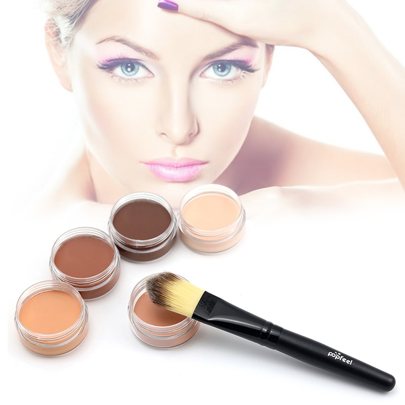 Women Face Make-Up Hide Blemish Concealer Outlines Cream Perfect Cover Makeup Concealer Beauty Tool TSLM1