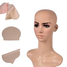 1pc Funny latex Skin Fake Bald Head Unisex Fancy film Party Dress Skin head Wig Cap Latex Mask Hat