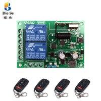 433Mhz Remote Control Switch for LightDoor Garage Universal Wireless Remote Control AC 85V 250V 110V 220V 2CH Relay Receiver