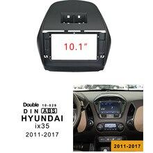 1-2Din DVD del coche de adaptador de conexión de audio Dash Trim Kits de Facia Panel 10,1 inch para HYUNDAI i35 2011-2017 doble Din reproductor de Radio