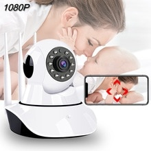Moniteur bébé WiFi Vision nocturne   1080P, alarme vidéo bébé, caméra bébé, deux voies Audio, téléphone de couchage, nounou, caméra de suivi automatique