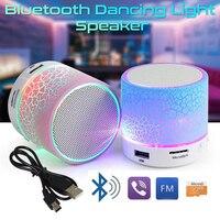Мини Беспроводной Портативный Bluetooth Динамик s трещины usb-портами и светодиодным индикатором MP3 стерео звук Динамик для компьютера мобильный ...