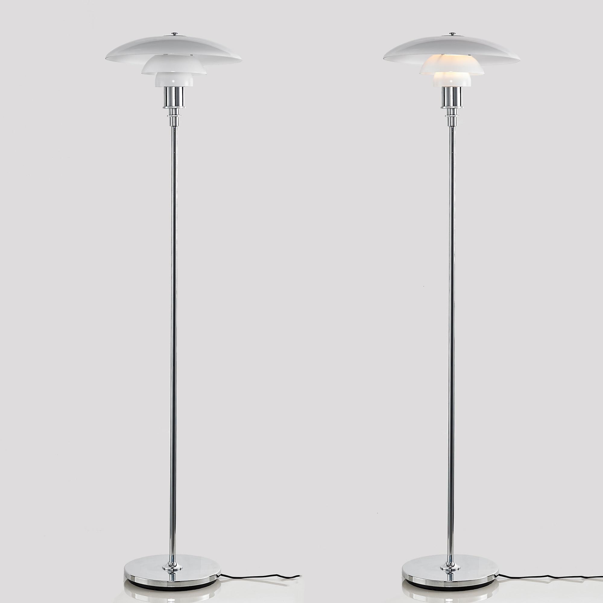 Diseño Europeo habitación permanente luz Base de cromo Dinamarca lámpara lampara de...