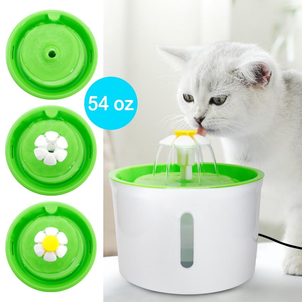 نافورة مياه أوتوماتيكية للقطط والكلاب سعة 1.6 لتر ، وعاء تغذية ، USB صامت ، موزع مياه للحيوانات الأليفة