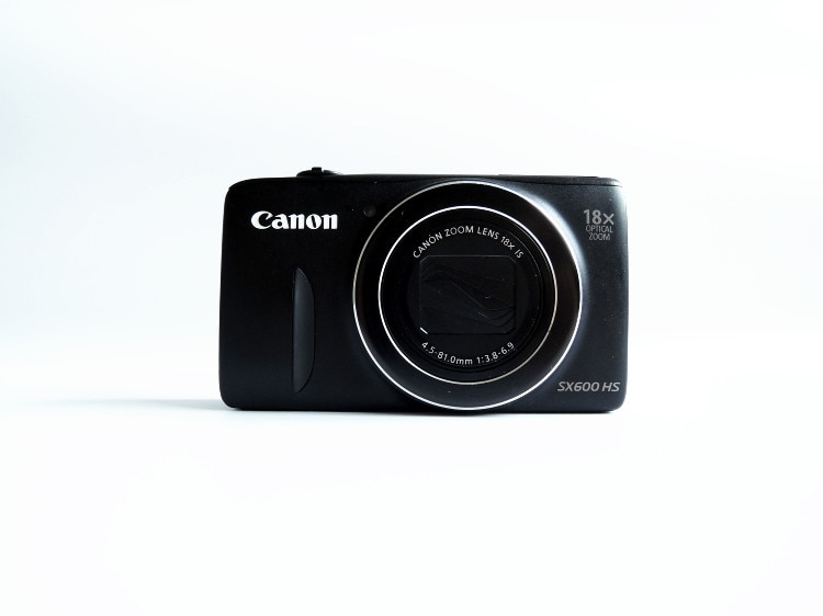 -Cámara Digital Canon PowerShot SX600 HS, 16MP, (rojo/Negro/blanco), Zoom óptico 18x, 1080p,...