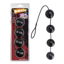 Super gros 6cm bouchons anaux noirs perles danus stimulateur de boule de vagin XL-grandes boules anales jouets sexuels produit adulte masseur de Prostate