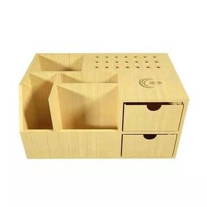 The Newest Multifunctional Wooden Storage Box Screwdriver Tweezers Holder Mobile Phone Repair Desktop Storage Tool Parts Box
