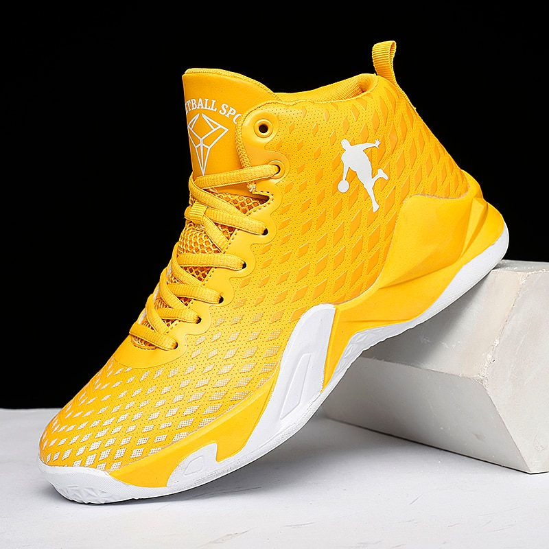 2021 Unisex Basketball Shoes Men High-top Sports Air Cushion Hombre Athletic Mens Shoes Women Comfortable Breathable Sneakers