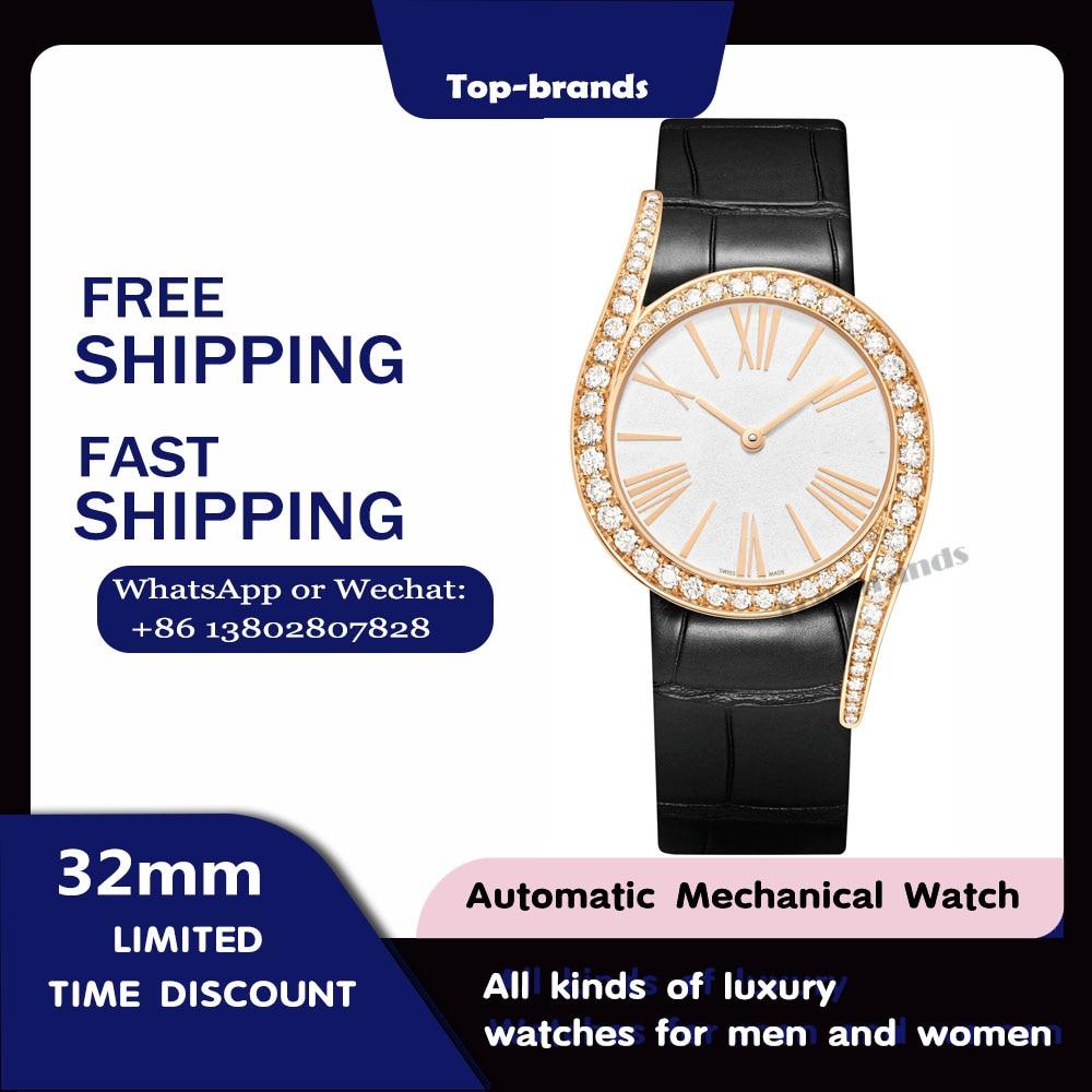 LIMELIGHT GALA2021 new ladies rose gold diamond watch ultra-thin manual winding movement fashion elegant sapphire bracelet watch