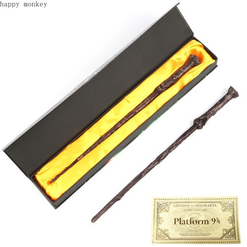 22 tipos de varita mágica de serie de Harry con caja Voldemort Ron Hermione Dumbledore Luna varita mágica Caballero autobús Hogwart billete de tren