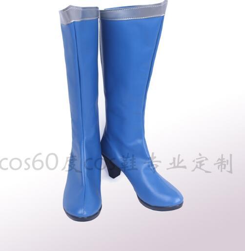 Anime Sailor Moon Sailor Mercury Cosplay Party Shoes Mizuno Ami Blue Boots Custom Made