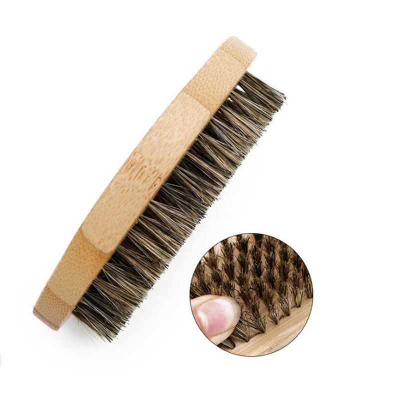 Natural Boar Bristle Beard Brush For Men Face Massage Comb Beard Care Product Bread Combs