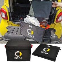 Для Mercedes Smart Fortwo Forfour 453 451 450 452 454 Cabrio City Coupe автомобильная сумка для хранения складной органайзер для багажника сумка для хранения