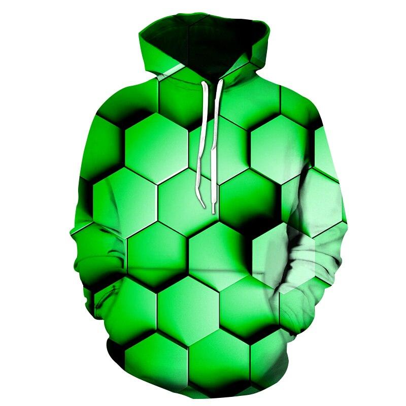 Print Three dimensional space graphic hoodie 3d Geometric hoodie men/women Long sleeve pullovers male casual hoodies sweatshirts