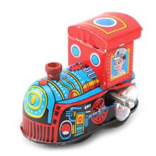 Retro Steam Train Reminiscence Children Vintage Tin Toy Clockwork Toys Gift