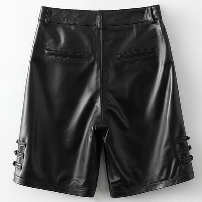 2021 Women New Fashion Genuine Real Sheep Leather Skirt H53