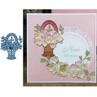 beautiful flower basket dignified decoration popular metal cutting dies for diy scrapbooking album paper cards embossing dies