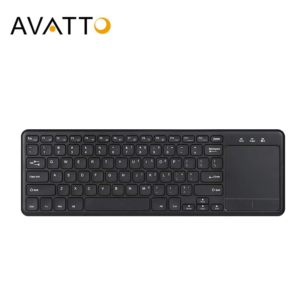 AVATTO Whisper тихий 2,4 ГГц, беспроводной, мультимедиа, Офисная клавиатура с тачпадом, мышь комбо для Windows PC,Smart TV,Android Box