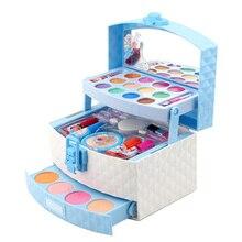 New Disney girls frozen 2 elsa anna princess Makeup suitcase Toys set Cosmetic case snow White Makeu