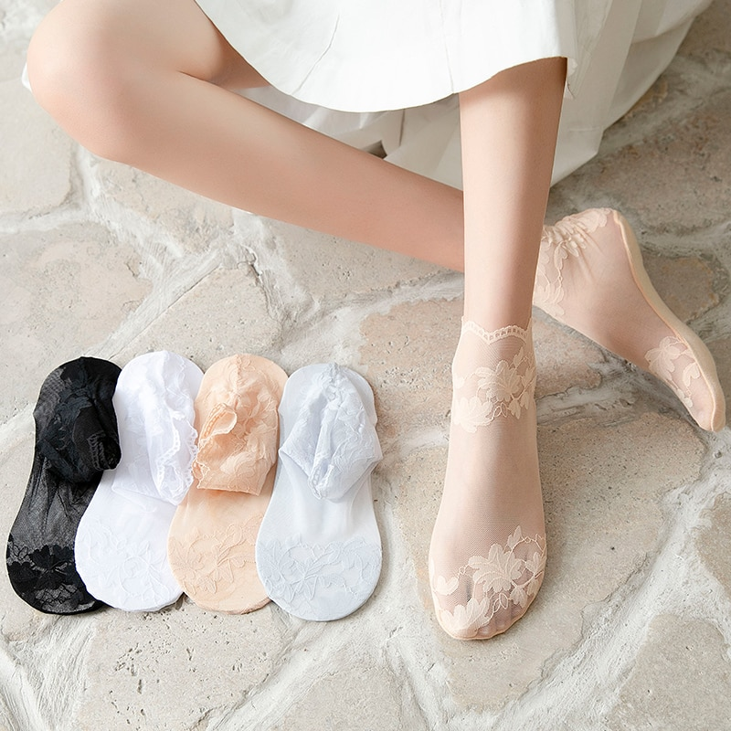 KNOW DREAM Stockings Cotton Socks Female Tube Deodorant Breathable Japanese Cute Cartoon Tide Ins Ha