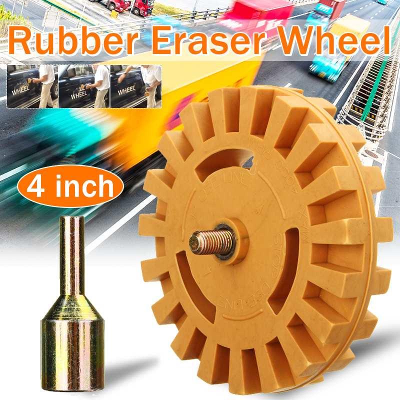 Nuevo 4 pulgadas 99mm herramientas neumáticas tampón de neumáticos pegamento para neumáticos quitar goma rueda de goma borrador troqueladora rueda para taladro eléctrico