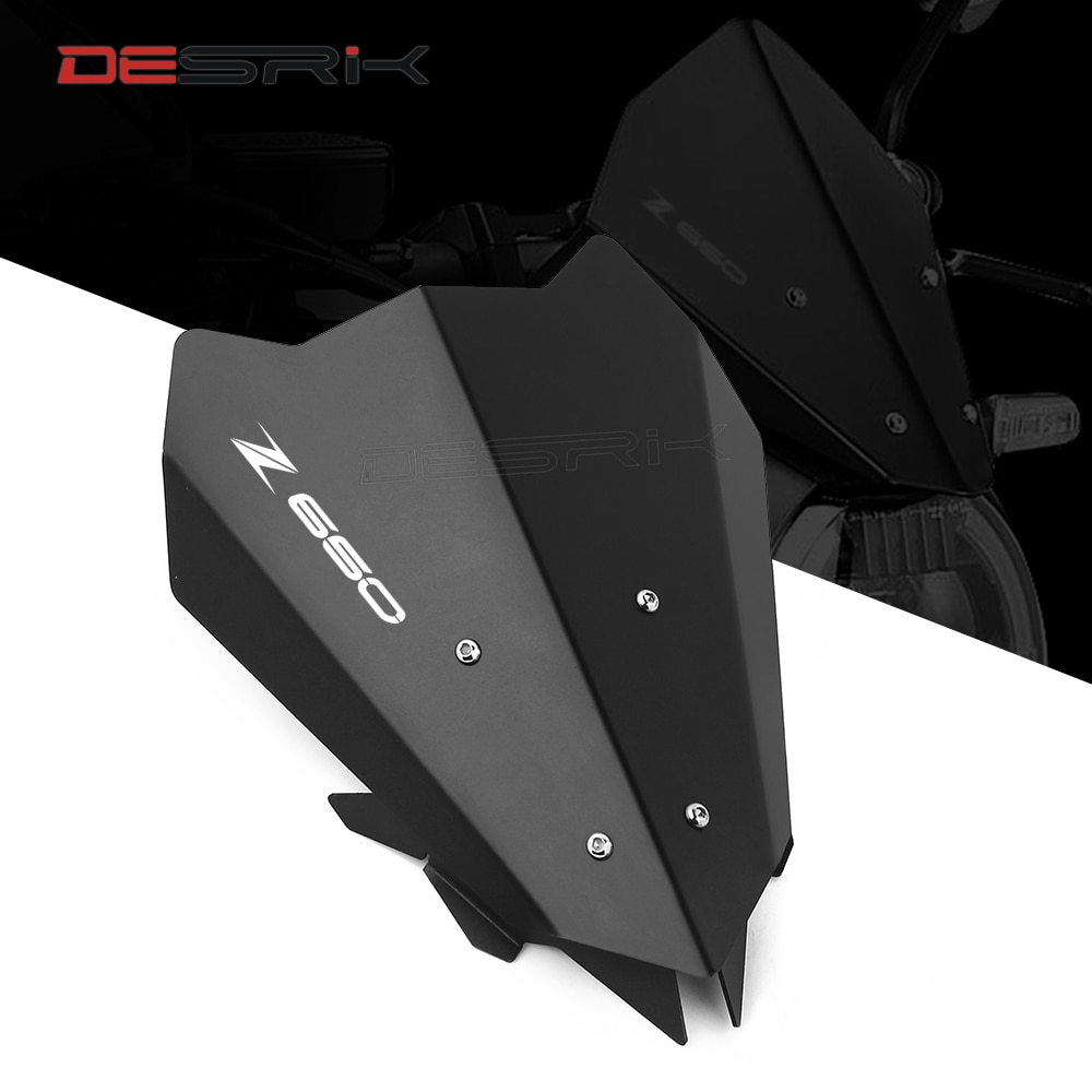 5 Colors For Kawasaki Z650 2017 2018 2019 Motorcycle Airflow Windscreen Windshield Deflector Bracket Protector Aluminum