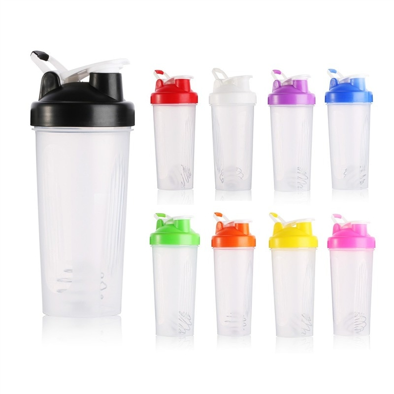 600/400ml Creative Shaker Bottle Sports Whey Protein Powder Mixing Bottle with Stirring Ball  Water Bottle BPA Free Cup недорого