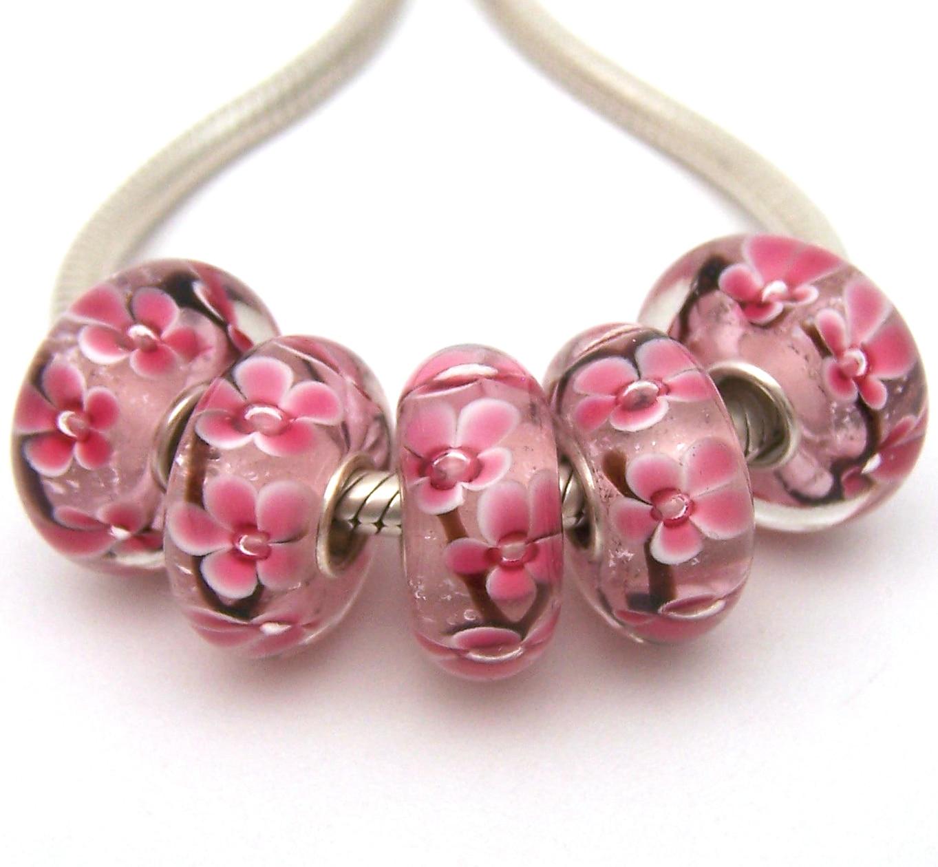 JGWG798 5X 100% Authentizität S925 Sterling Silber Perlen Murano Glas perlen Fit Europäischen Charme Armband diy schmuck Murano