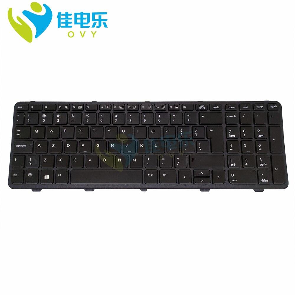لوجو-لوحة مفاتيح بإضاءة خلفية لأجهزة الكمبيوتر المحمول HP Probook 470 450 G0 G1 G2 455 G1 G2 ، مفتاح إنجليزي كبير ، أسود ، 780170 051 ، جديد