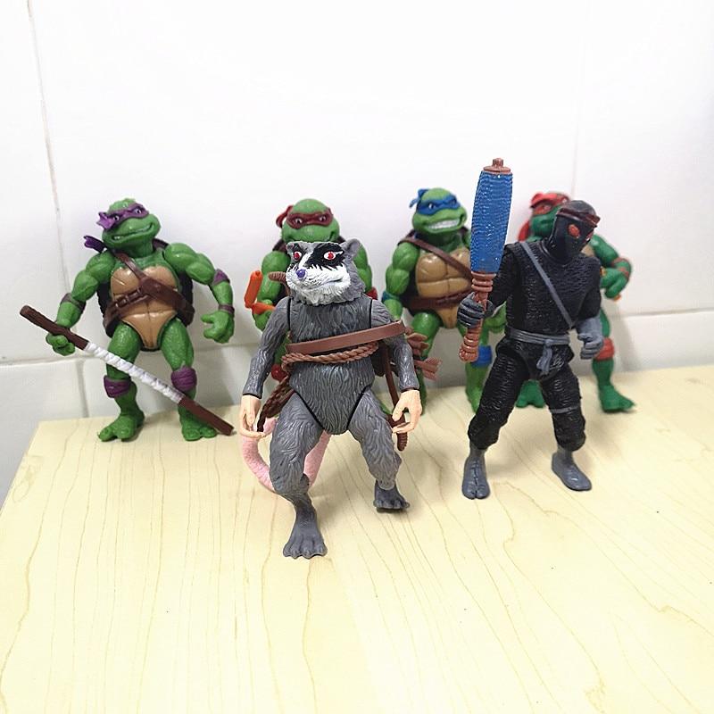 6 unids/set figuras de juguetes de modelo Mini tortuga de dibujos animados tortuga tartarruga Juguetes Artículos de decoración figura de figuras de Ninjas estatuilla de personaje