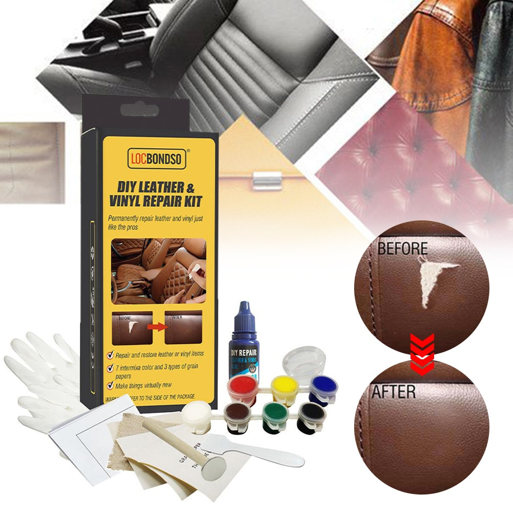 DIY Leather Vinyl Repair Kit For Patch Fabric And Tools Restorer Of Scratch Or Crack On Your Couch For Upholstery Couch Boat