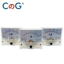 85C1 mA uA Ampère DC Compteur Analogique Panneau 1mA 2mA 5mA 10mA 20mA 30mA 50mA 100mA 200mA 300mA 500mA μA Compteur de Courant Pointeur Ampèremètre