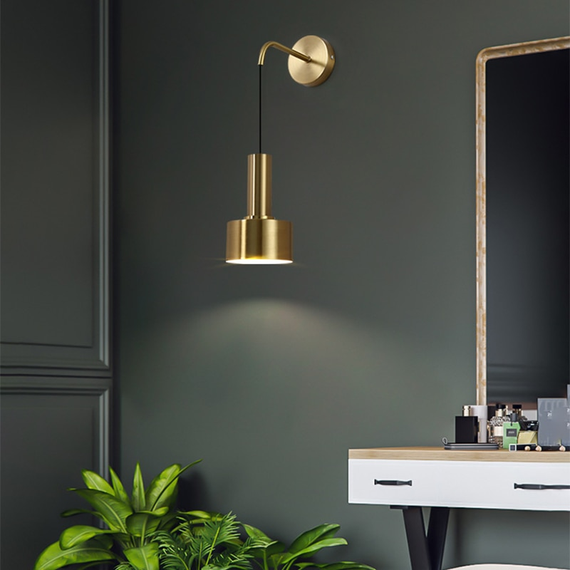 Modern Adjustable Bedside Lamp Wall Lamp Reading Light Luxury Sconce for Aisle Indoor E27 Nordic up Down Black Gold Wall Mounted