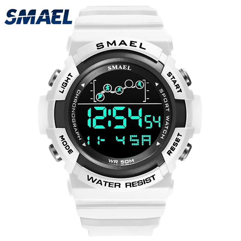 Digital Watches For Men 50M Waterpoof Watch SMAEL Sport Wristwatches Stopwatch Alarm Clock Stopwatch 1426 Big Dial Watch Men