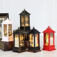 christmas led lantern retro table lamp winsow hanging ornament desktop night light home party decoration