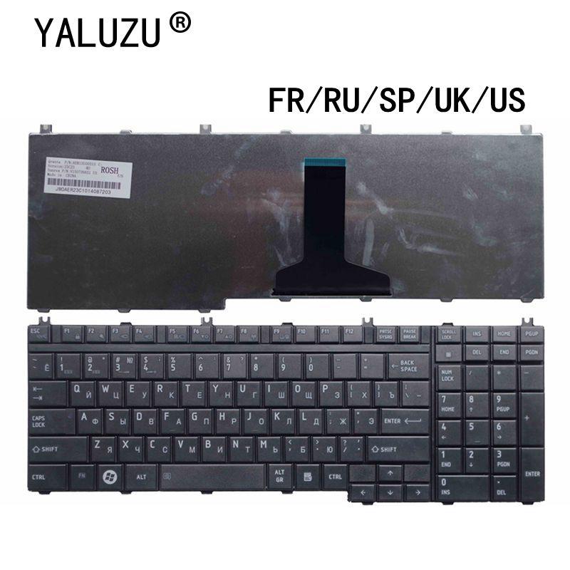 Portátil para Toshiba Eua Teclado Qosmio F60 F755 G55 F750 G50 X305 F50 X205 X505 Pk130741a15 fr – ru sp uk
