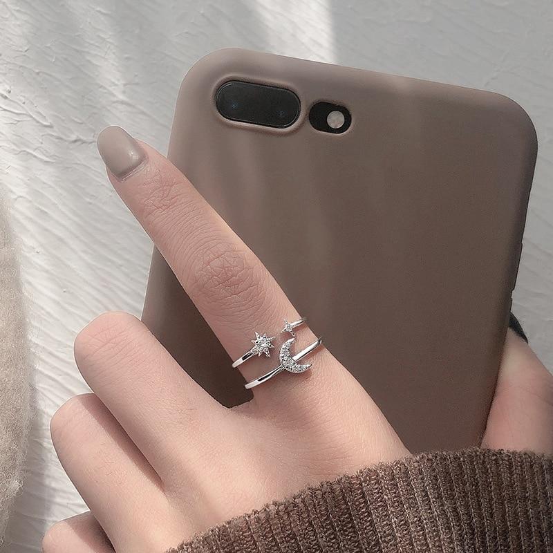 Женское-Двухслойное-кольцо-из-серебра-925-пробы-с-цирконом