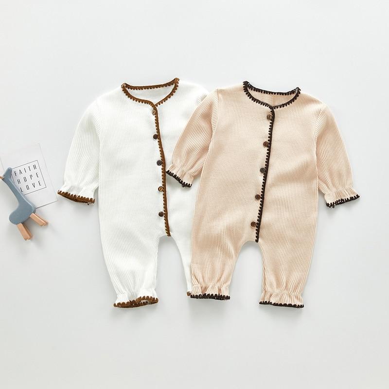 Осенняя одежда для новорожденных девочек, комбинезоны для мальчиков, одежда с длинным рукавом, детские комбинезоны, зимний осенний наряд дл...