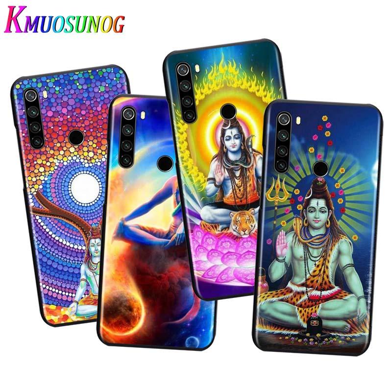 Para Xiaomi Redmi Note 9 9S Max funda de teléfono Lord Shiva Buda hindú para Xiaomi 8T 8 7 6 5 Pro 5A 4X 4 funda negra para teléfono