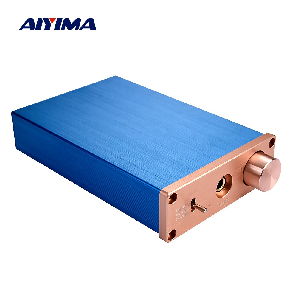 AIYIMA 12V Digital Audio Decoder USB DAC HiFi Headphone Amplifier Amp 24Bit USB Fiber Coaxial Toslink Decoding RCA 6.35MM Output