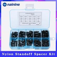 Colonne despacement en Nylon hexagonal   180 pièces par lot M2 M2.5 M3 femelle mâle, colonne despacement pour carte mère de PCB, jeu de vis despacement fixes en plastique NL24