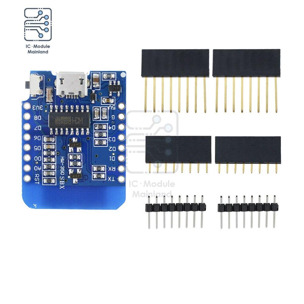 ESP8266 ESP-12 ESP-12F CH340G CH340 V2 3.3V USB  Mini WIFI Development Board WeMos D1 Mini NodeMCU IOT Board недорого