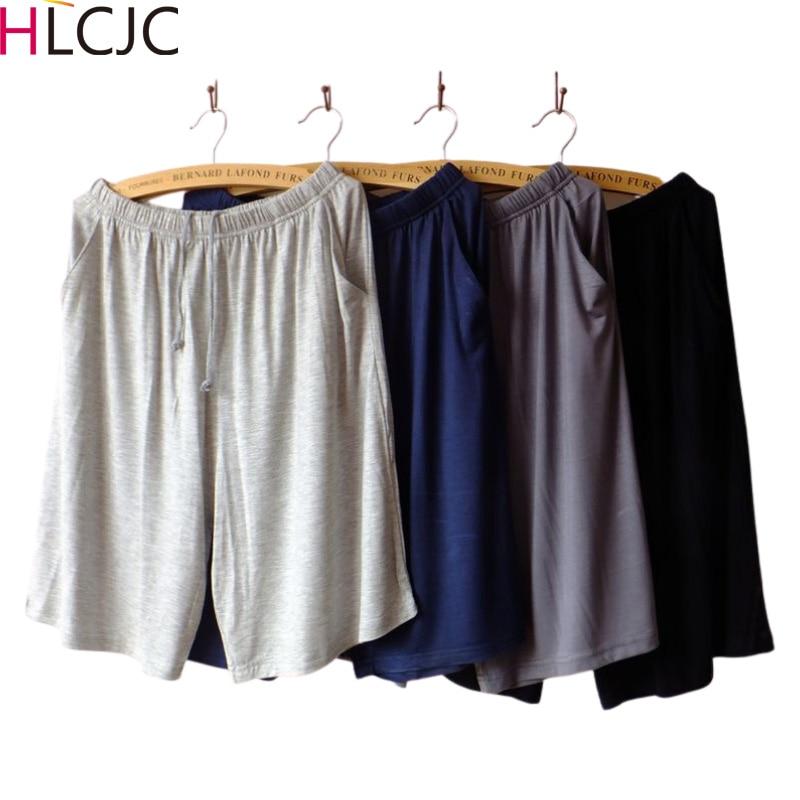 XL-XXXXL Men Male Cotton Pajama Pants At Home Underwear Fashion Shorts Summer Nightgown Lounge Pants