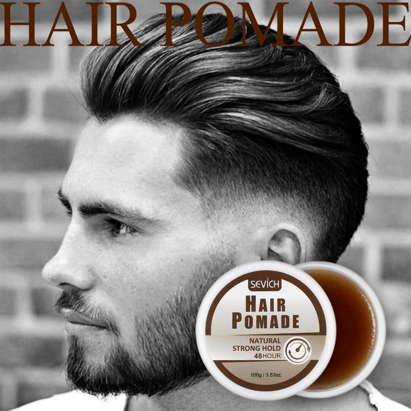 Sevich 48 horas forte segurar o cabelo masculino pomada suave creme de cabelo gel cânhamo pomada salão de beleza estilo de cabelo fazer natureza de longa duração 100g