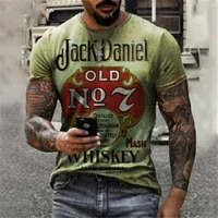 mens o neck short sleeved loose t shirt casual 3d pattern printing t shirt 2021 design summer new style